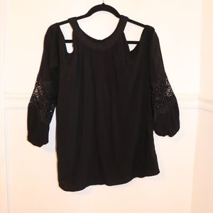 Express cold shoulder Long Sleeve Blouse Size M